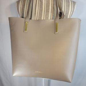 Joy & Iman NWOT Leather Taupe Tote Bag
